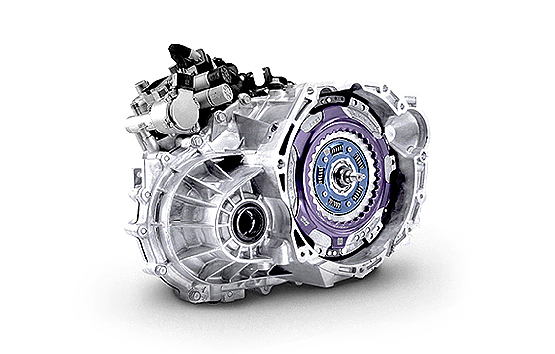 Closer view of 7-speed Double clutch