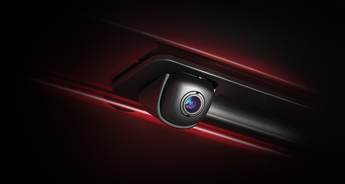Closer view of rear view camera