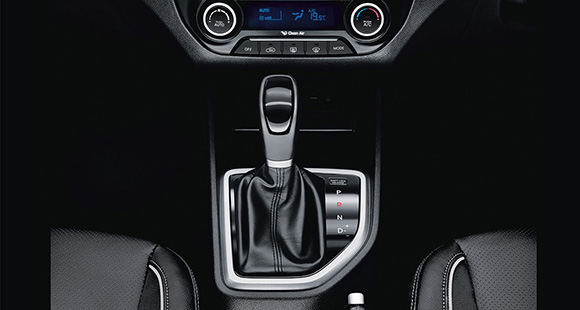 Top view of Automatic transmission in black color